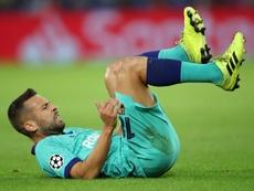 Jordi Alba está listo para volver con el Barça. EFE