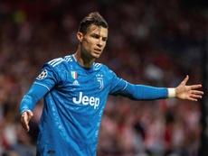 Ronaldo made a gesture. EFE