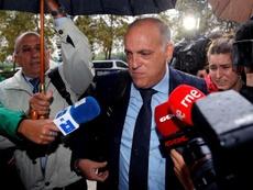Javier Tebas fue acusado por el abogado del Zaragoza. EFE