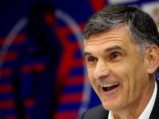 Mendilibar fue crítico con sus jugadores. EFE/JuanHerrero