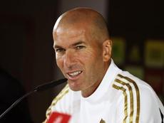 Zidane se puso serio a la hora de hablar del día libre del Madrid. EFE
