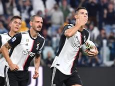 Cristiano hizo el 2-1 de penalti. EFE