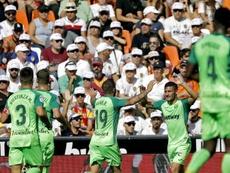 El Leganés se llevó un punto de Mestalla. EFE