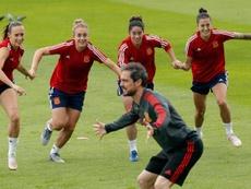 La Selección ya tiene a sus cuatro capitanas. EFE/JuanCarlosCardenas