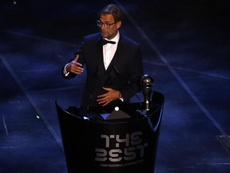 Klopp se llevó el 'The Best' a mejor entrenador. EFE