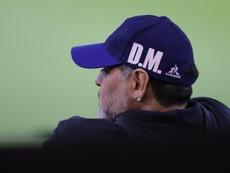 Otra falta en el historial de Maradona. EFE/ Nicolás Aguilera