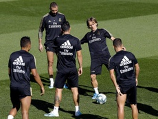 Bale, Modric and Lucas Vazquez, out against Mallorca. EFE