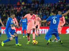 Dembélé, decidido a quedarse en el Barcelona. EFE/Rodrigo Jiménez