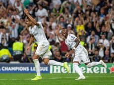 Casemiro (L) is the Real Madrid player with the second highest amount of goals this season. EFE