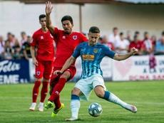 Saponjic ha disputado cuatro minutos de Liga en lo que va de temporada. EFE/Archivo