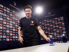 Simeone respondeu sobre o adiamento do 'El Clásico'. EFE/MARISCAL