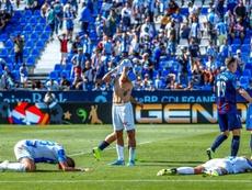 El Levante se llevó la victoria de Butarque. EFE