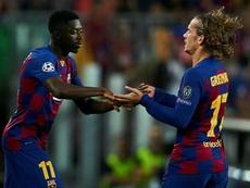 Due dei francesi presenti al Barça: Griezmann e Dembelè. EFE