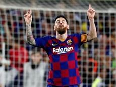 Messi le anotó un póker al Eibar. EFE