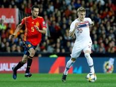 Spain play Norway. EFE