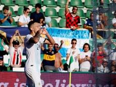 Ocampos logró marcar en los dos partidos de Argentina. EFE