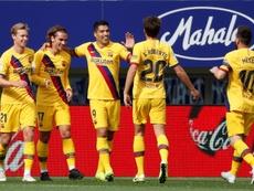 Barcelona cola na liderança com gols do trio 'MSG'