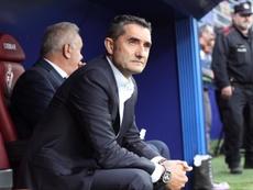 A assinatura de Valverde. EFE