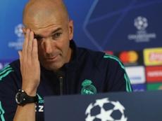Zidane, en rueda de prensa. EFE