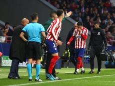 Giménez sufre una lesión de grado I en el muslo derecho. EFE/Rodrigo Jiménez