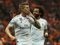 Kroos, gol decisivo e presenza numero 100 con il Real. Captura/MovistarLigadeCampeones