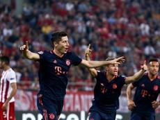 Lewandowski llegó a los 18 goles en 13 partidos. EFE/EPA/GEORGIA PANAGOPOULOU