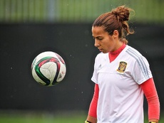 Ainhoa Tirapu habló de la situación actual del fútbol femenino. EFE/ANDRE PICHETTE/Archivo