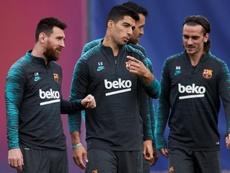 Messi, absent du groupe du Barça contre l'Inter Milan. EFE