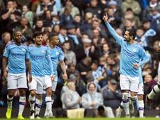 El City ganó con goles que llegaron a través del fútbol directo. EFE