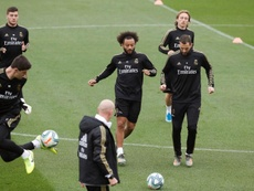 Marcelo, titular no jogo contra o Valencia. EFE