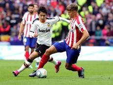 Tras dos partidos fuera, Marcos Llorente jugó ante su ex equipo. EFE