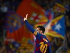 El Barça alegará por la tarjeta de Leo Messi. EFE