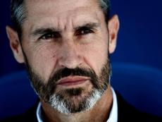 Vicente Moreno vio el partido de cerca. EFE