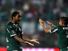 Palmeiras se deja medio título y Santos amenaza su segunda plaza. EFE/ Fernando Bizerra Jr.
