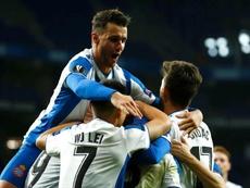 El Espanyol se dio un festín con el Ludogorets. EFE