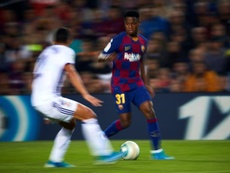 Ansu Fati could be become the youngest goalscorer in the UCL. EFE
