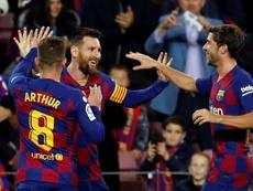 Otro partidazo de Messi, suficiente para el líder. EFE