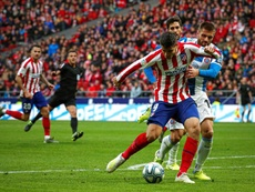 Morata virou jogo do Atlético contra Espanyol. EFE/Emilio Naranjo