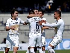 Un penalti fallado, cinco palos y Pumas, casi eliminado. EFE/Emiliano González