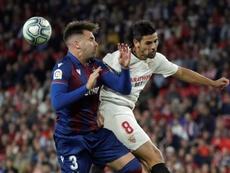 Sevilla y Levante, rivales en dieciseisavos de Copa. EFE/Julio Muñoz