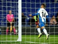 Melendo marcó uno de los dos goles del Espanyol. EFE