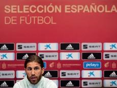 Ramos n'est pas satisfait du changement d'heure du clasico. . EFE/Román Ríos