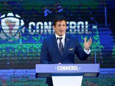 El recado de la ministra de deportes de Chile a la CONMEBOL. EFE/Andrés Cristaldo