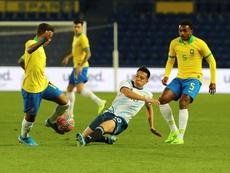 Argentina Sub 23 también ganó a Brasil. EFE