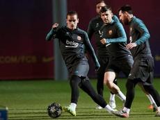Barcelona treinou com Messi, Suárez e Busquets. EFE/ Alejandro García/Archivo