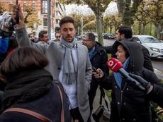 Los ex jugadores de la Arandina ya están en la Audiencia para declarar. EFE/Santi Otero