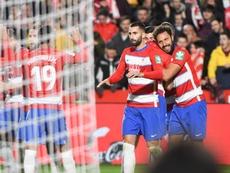 El Granada es el equipo que más goles lleva en jugadas a balón parado. EFE