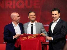 Rubiales habló sobre Luis Enrique. EFE/Ballesteros