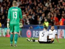 El Valencia lo dio todo, pero solo pudo firmar un empate. EFE