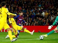 Messi segna la rete del raddoppio. EFE